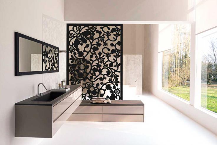 Paneles divisorios o mamparas celos as met licas y paneles decorativos perforados infiniti - Muros decorativos para interiores ...